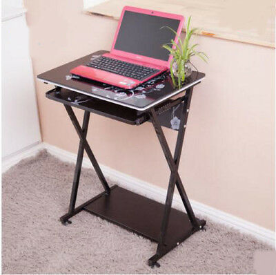 A40 Black Furniture Living Room Laptop Computer Desk Artificial Board Steel