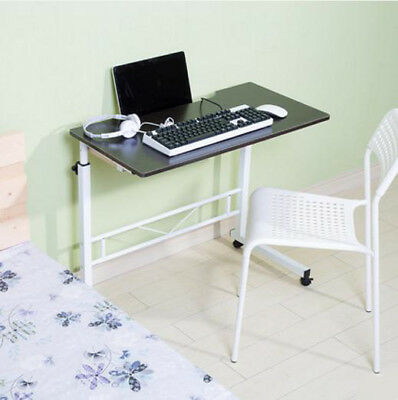 A43 Black Furniture Liftable Bedroom Laptop Computer Desk Artificial Board Steel