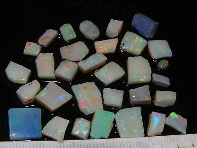 Small Lightning Ridge Opal Rubs/Rough 30cts Inlay/Triplets parcel,  Nice Fires