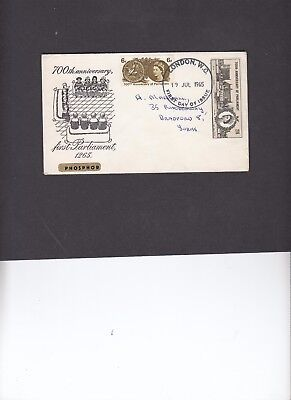 1965 De Montfort Parliament unusual illustration First Day Cover