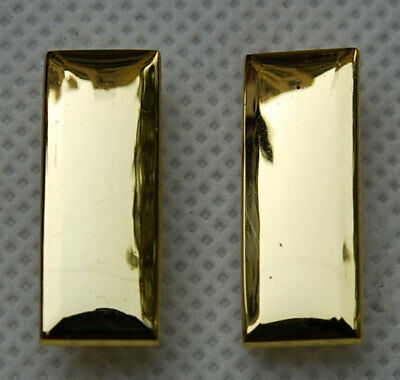 Ww2 Pair Of Us Army Second Lieutenant Officer Rank Insignia Badges -32359
