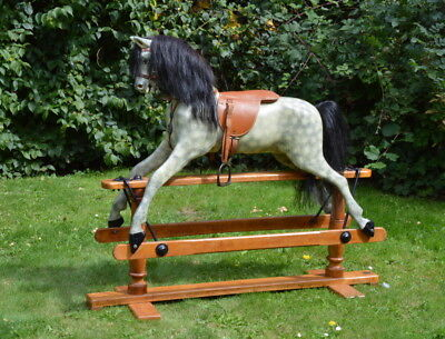 Antique Vintage Lines Bros Brothers Sportiboy Wooden Rocking Horse c.1915-20