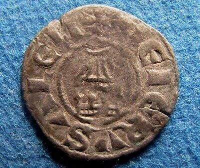 "CRUSADERS ""IERUSALEM"" (Jerusalem) legend on Amaury 1163-1174AD. BI Denier coin"