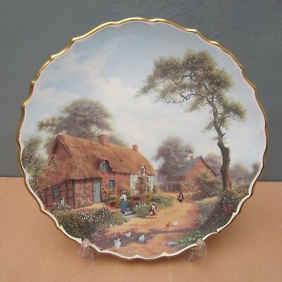 "Spode Rural Scenes ""the Cottager"" 9 1/4 Inch Decorative Plate"