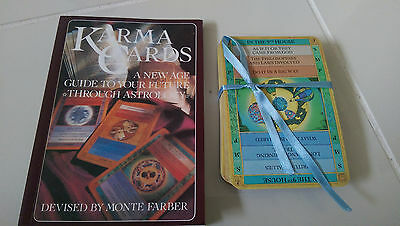 KARMA CARDS A New Age Guide to Your Future Through Astrology 1991 BOOK & CARDS!