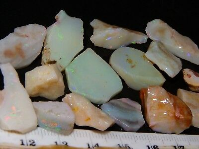 Nice Coober Pedy Opal Rubs/Rough Parcel 111.5cts Bars/Part-Bars Mixed Fires NR