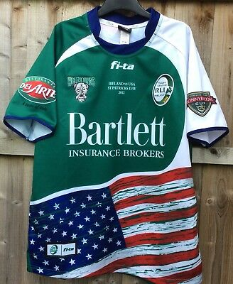 Ireland Wolfhounds Rugby League V USA 2012 St Patrick's Day Shirt XL