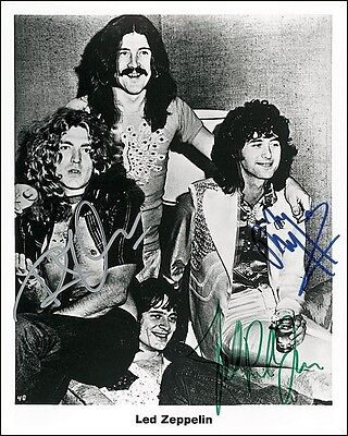 Led Zeppelin signed print