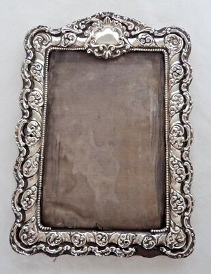 Victorian 1899 Sterling / Solid Silver Mounted Photograph Frame