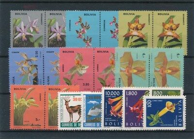 [91504] Bolivia Fauna/Flora good lot Very Fine MNH stamps