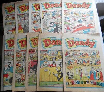 10 x Dandy comics from 1968 - job lot - many very good condition