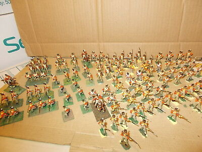 Airfix 1.72 Napoleonic British Line Infantry  - 111 Painted Figs See Photos