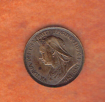 Nice Old 1901 Victorian Halfpenny Coin