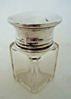 ANTIQUE c1910 SOLID / STERLING SILVER TOPPED SMELLING SALTS BOTTLE