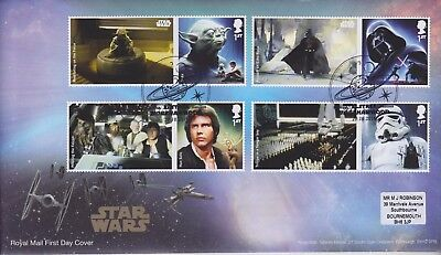 Gb Stamps First Day Cover 2015 Star Wars Elstree Smilers From Collection