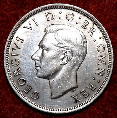 1937 George VI  Silver Crown -- HIGHLY Collectible Grade & Detail