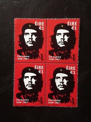 """Ireland  2017 """"che Guevara """" Block Of Four Issue Unmounted Mint .scan"""