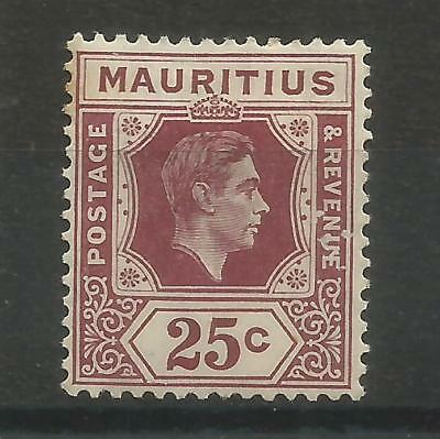 Arcade 99p A Nice Mauritius 1938 25c Mint Definitive Issue