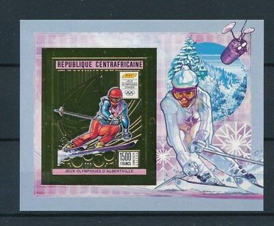 [93349] Central African Republic 1991 Olympics good Gold stamp Very Fine MNH