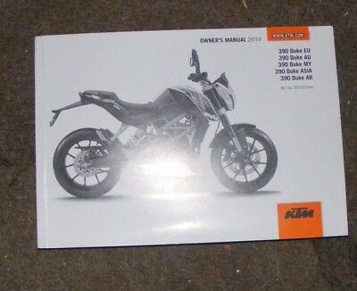 Ktm Rc390 Eu - Au - My - Asia - Ar Owners Manual 2014  ( All Models Listed)