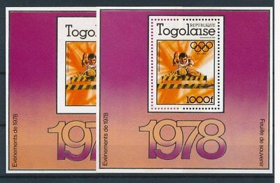 [93384] Togo 1978 Olympic Games 2 good sheets perf. + imperf. Very Fine MNH