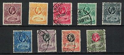 Gold Coast stamps George V era mint/used multi script CA - useful lot sg103>>