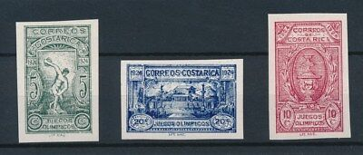[93429] Costa Rica 1924 Olympics good imperforated set Very Fine MNH stamps