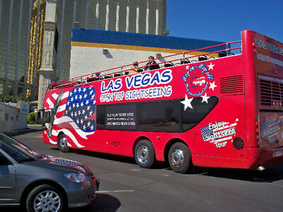 2 Big Bus Open Top Sightseeing Passes - See Vegas From 14 Ft Above The Street!