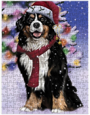 Winter  Bernese Mountain Dog In Christmas  Puzzle    (252 pc.) a2845