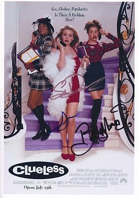 Clueless signed movie poster print