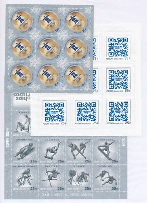 [F94011] Russia After 2000 Olympics 3 good sheets Very Fine MNH/Adhesive