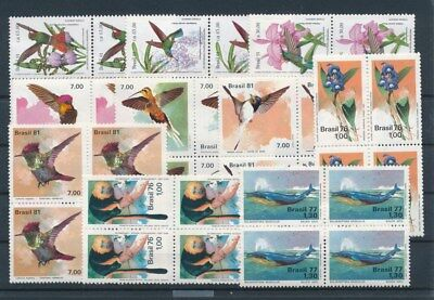 [G91564] Brazil Fauna/Flora good lot Very Fine MNH stamps in blocks of 4