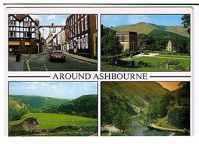 Postcard: Multiview - Around Ashbourne, Derbyshire