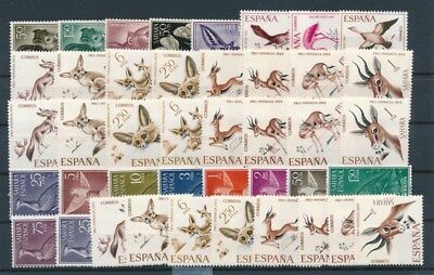 [G91652] Spanish Colonies Fauna good lot Very Fine MNH stamps