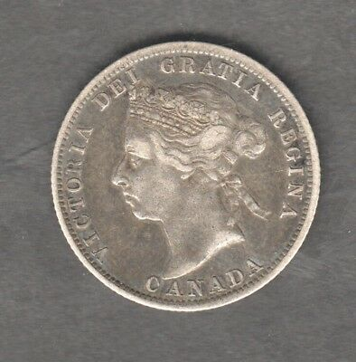 Canada Queen Victoria Silver 25 Cents 1900 Auction Starts At £1