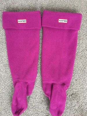 Fab Pair Of Deep Pink Hunter Welly / Wellie Socks Size L (6-8)