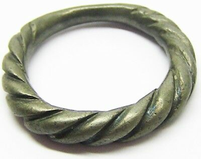 Nice Viking Silver Oath / Wedding Ring c. 10th - 11th century A.D. Size 8 1/2