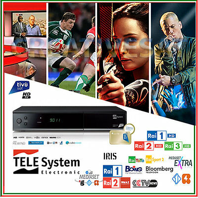 TivuSat Telesystem TS-9011 HD Decoder and Smartcard Activated – Special Offer