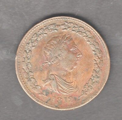 CANADA GEORGE 3RD 1812 TIFFIN PENNY TOKEN nice condition AUCTION STARTS AT £1