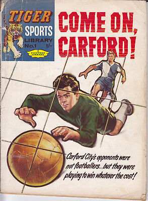 ULTRA RARE UK Fleetway TIGER Sports Library 1 (1961) Digest Size