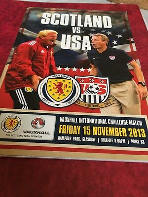 Scotland V USA 15th November 2013 Friendly Match
