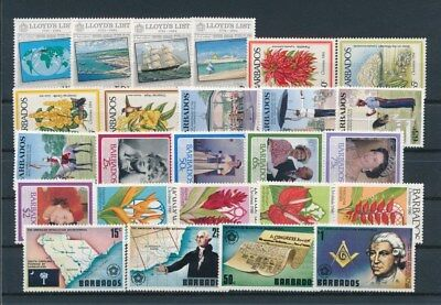 [G92190] Barbados good lot Very Fine MNH stamps