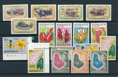 [G92204] Barbados good lot Very Fine MNH stamps