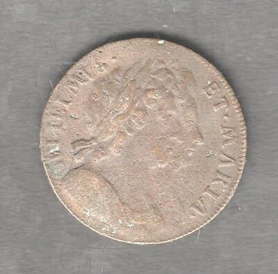 WILLIAM AND MARY half-penny 1694 auction starts at £1