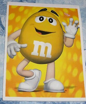 M&M's by Mars Cute Yellow Stationery Pad by Mead Vintage 1999