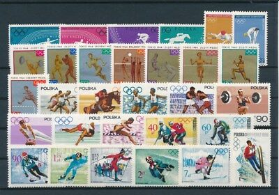 [G92473] Poland Olympics good lot Very Fine MNH stamps