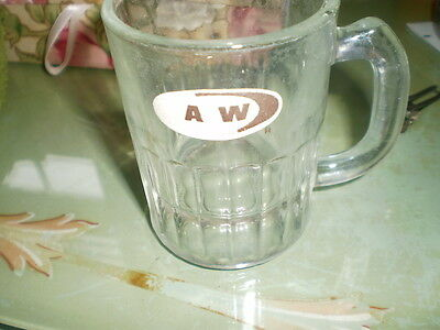 original baby A&W  rootbeer glass