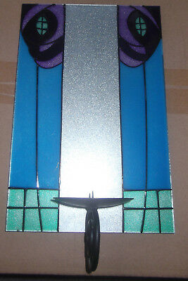 CHARLES RENNIE MacKINTOSH DESIGN HANDMADE GLASS WALL SCONCE -STAINED GLASS STYLE