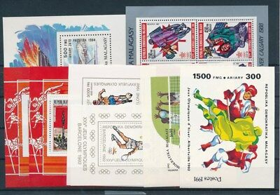 [G93276] Madagascar Olympics  8 good sheets perf./imperf. Very Fine MNH