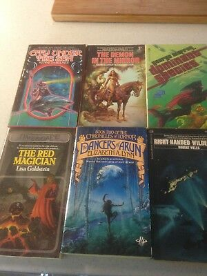 6 vintage science fiction paperbacks 1960s-80s in good condition starting at 99P